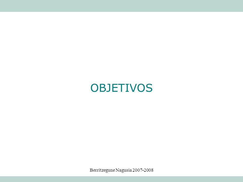 Berritzegune Nagusia 2007-2008 OBJETIVOS