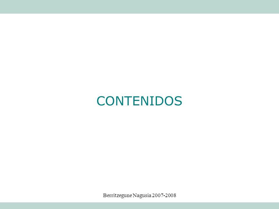 Berritzegune Nagusia 2007-2008 CONTENIDOS