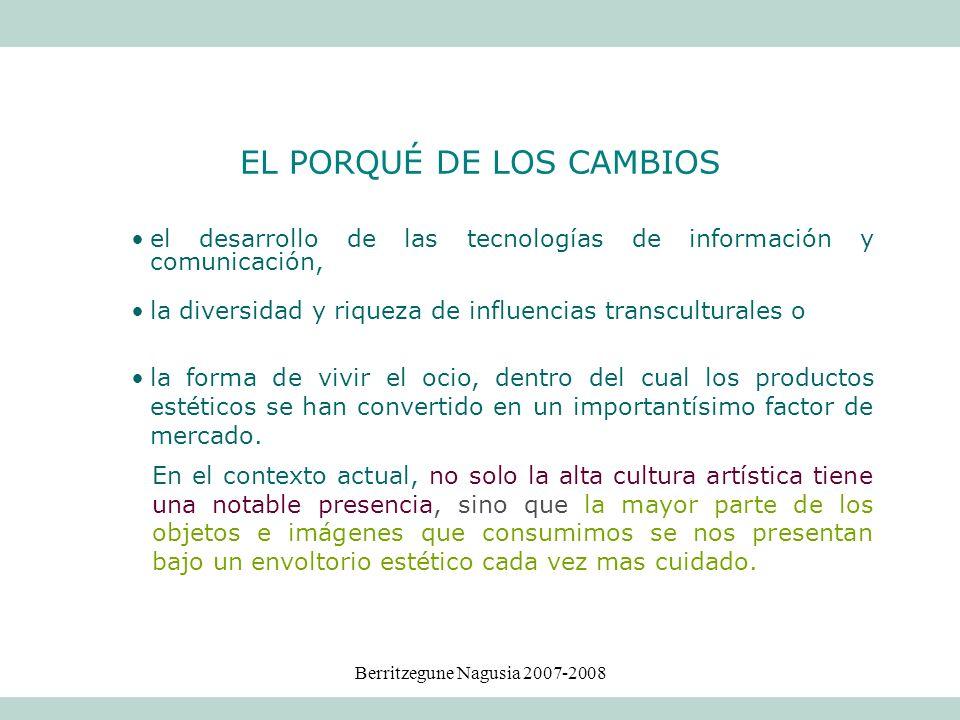 Berritzegune Nagusia 2007-2008 el desarrollo de las tecnologías de información y comunicación, la diversidad y riqueza de influencias transculturales