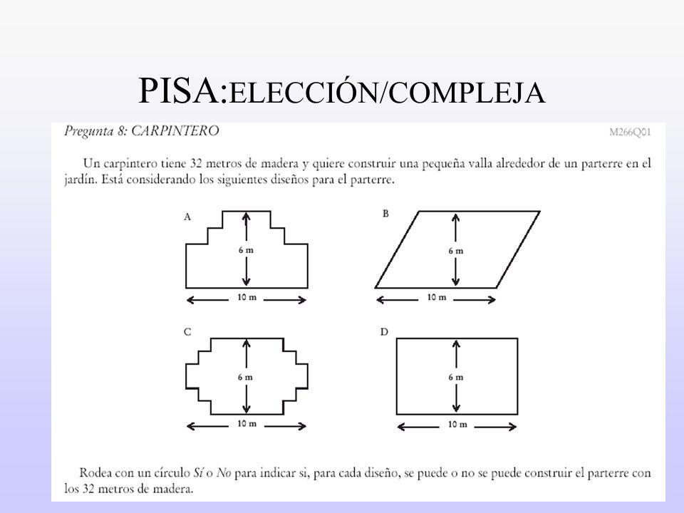 16 PISA: ELECCIÓN/COMPLEJA