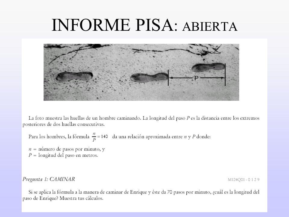 17 INFORME PISA : ABIERTA