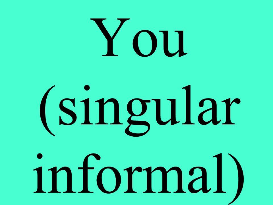 You (singular informal)