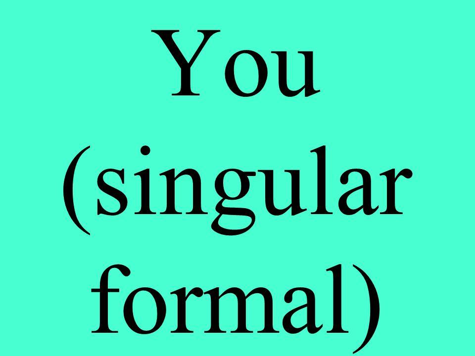 You (singular formal)