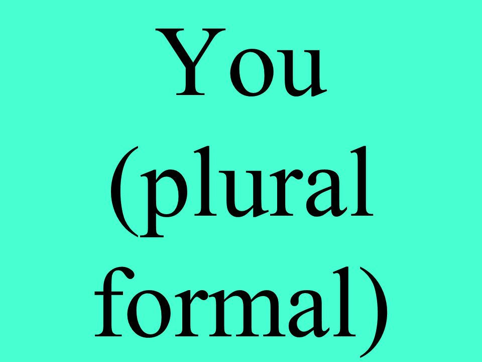 You (plural formal)