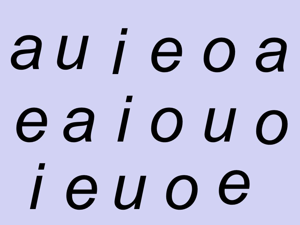 El alfabeto/ abecedario