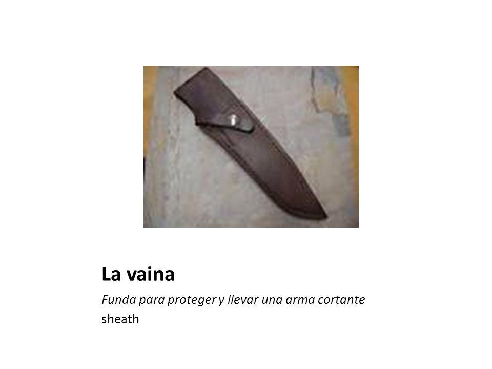 La vaina Funda para proteger y llevar una arma cortante sheath