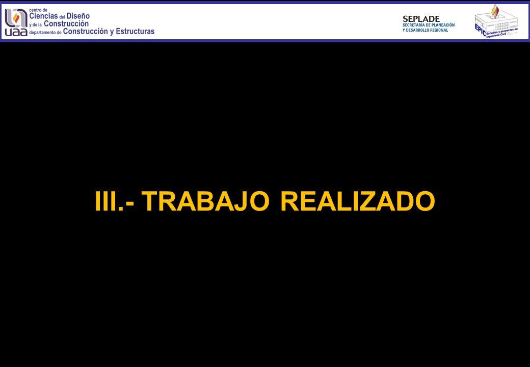 III.- TRABAJO REALIZADO