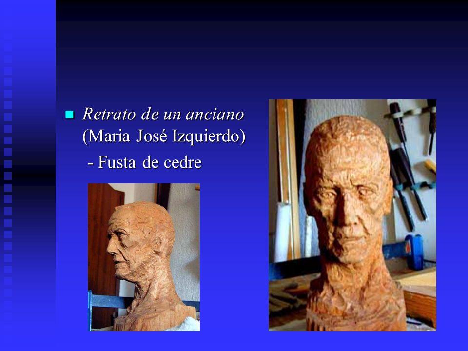 Retrato de un anciano (Maria José Izquierdo) Retrato de un anciano (Maria José Izquierdo) - Fusta de cedre - Fusta de cedre