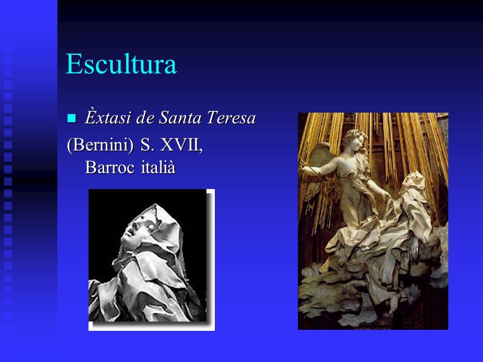Escultura Èxtasi de Santa Teresa Èxtasi de Santa Teresa (Bernini) S. XVII, Barroc italià