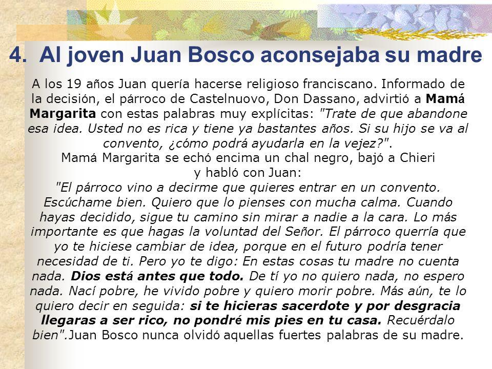 Catequista de sus hijos Pascua de 1826, es el día de la Primera Comunión de Juanito. Mamá Margarita, después de haber alentado a los hijos a la Confes