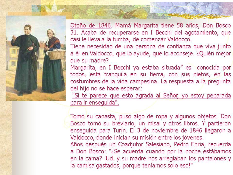 ¡El Domingo de Pascua 12 de abril de 1846, después de un gran trabajo para dejar el lugar listo, nace VALDOCCO! 5. Juan Bosco llegará a comprender, vi