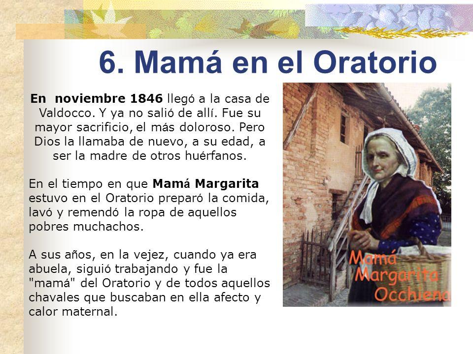 Otoño de 1846. Mamá Margarita tiene 58 años, Don Bosco 31. Acaba de recuperarse en I Becchi del agotamiento, que casi le lleva a la tumba, de comenzar