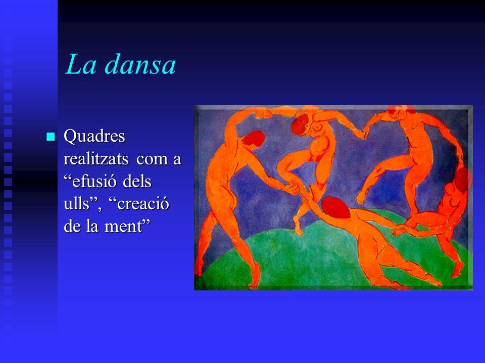 La dansa Quadres realitzats com a efusió dels ulls, creació de la ment Quadres realitzats com a efusió dels ulls, creació de la ment