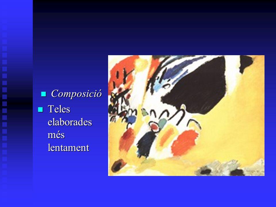 Composició Composició Teles elaborades més lentament Teles elaborades més lentament