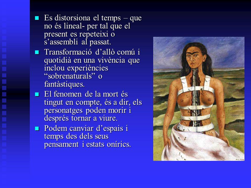 Es distorsiona el temps – que no és lineal- per tal que el present es repeteixi o sassembli al passat. Es distorsiona el temps – que no és lineal- per