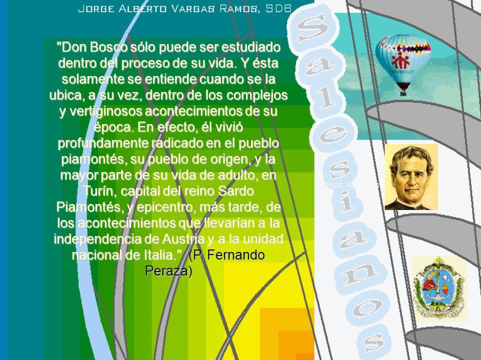 PARTE CIVIL RESTAURACIÓNRESURGIMIENTOPERÍODO NAPOLEÓNICOINDEPENDENCIA Y UNIDAD DE ITALIA 1800 1815 18311848185918661870 1800 Víctor Manuel I 1814-1821 Regen- cia Carlos Félix 1822 CARLOS ALBERTO 1831 VÍCTOR MANUEL II 1849 1859 1866 HUMBERTO I 1878 PÍO VII 1800 LEÓN XII 1823-1829 PÍO VIII GREGORIO XVI 1831 PÍO IX 1846 LEÓN XIII 1878 EL PAPA ARZOBISPO DON BOSCO 1800 1805 Jacinto della torre Can.
