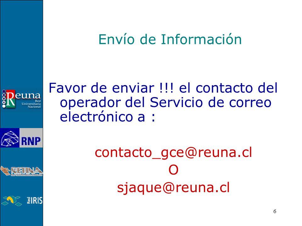 6 Envío de Información Favor de enviar !!.