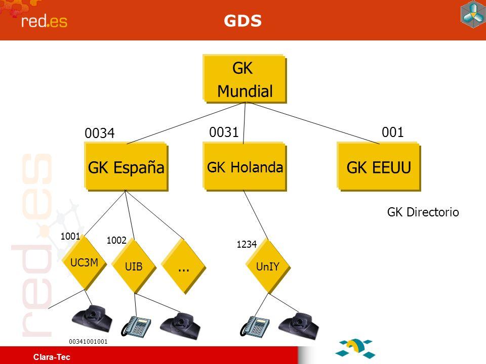 Clara-Tec Multiconferencia H.323 Salas abiertas permanentemente: 0034 1000 99 0384 - Videoconferencia a 384 kbps en activación por voz.0034 1000 99 0384 - Videoconferencia a 384 kbps en activación por voz.