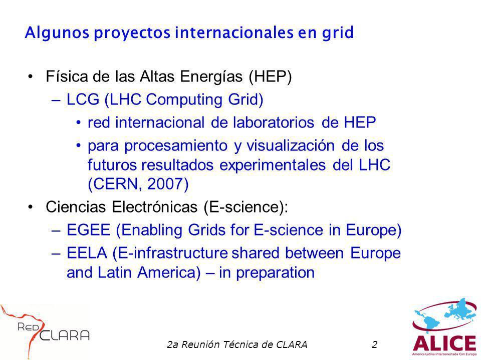 2a Reunión Técnica de CLARA13 Participación de las redes en EELA Participaron en las negociaciones para montar la propuesta EELA las redes de Brasil (RNP), Chile (REUNA) y México (CUDI) Combinose que estas se representarían como CLARA, al menos en las actividades claramente de interés comun.