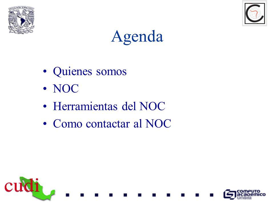 Agenda Quienes somos NOC Herramientas del NOC Como contactar al NOC