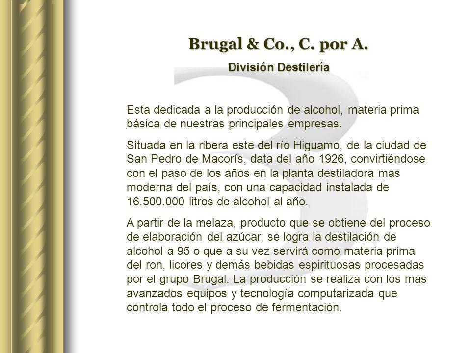 BRUGAL & CO., C. POR A. Breve Descripción de la Producción de Alcohol Y Ron A partir de la Melaza de Caña. MAYO, 2002