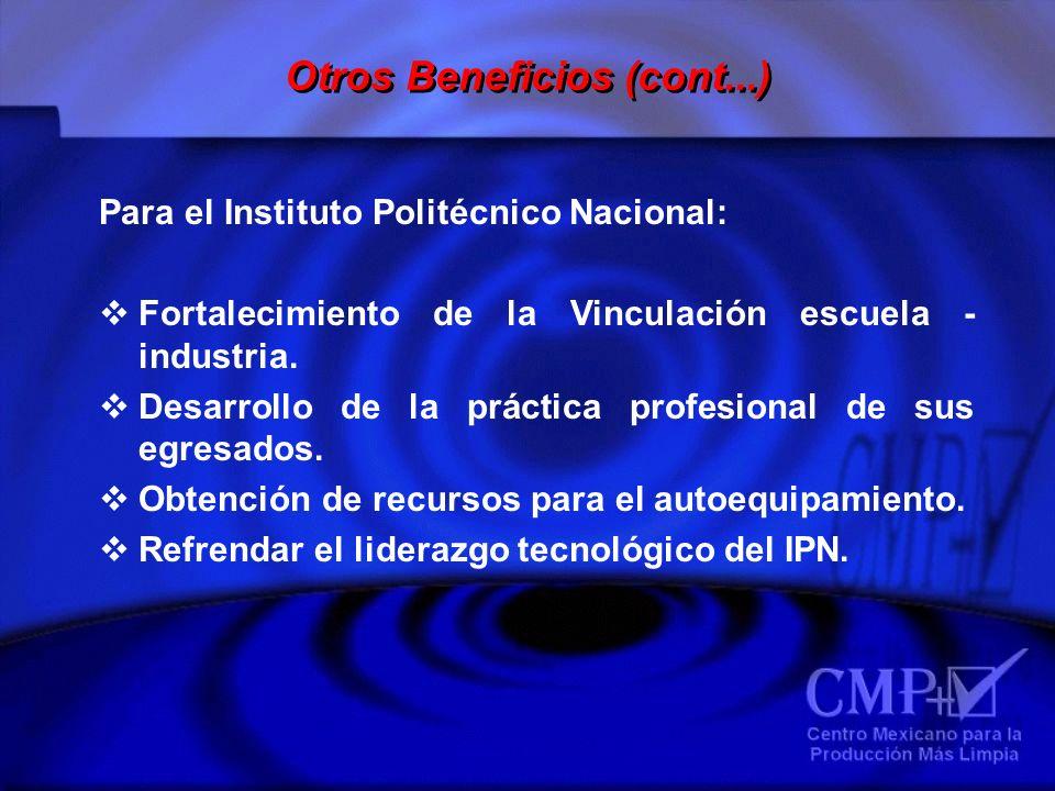Para el Instituto Politécnico Nacional: Fortalecimiento de la Vinculación escuela - industria. Desarrollo de la práctica profesional de sus egresados.