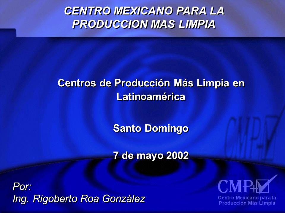 CENTRO MEXICANO PARA LA PRODUCCION MAS LIMPIA CENTRO MEXICANO PARA LA PRODUCCION MAS LIMPIA Centros de Producción Más Limpia en Latinoamérica Santo Do