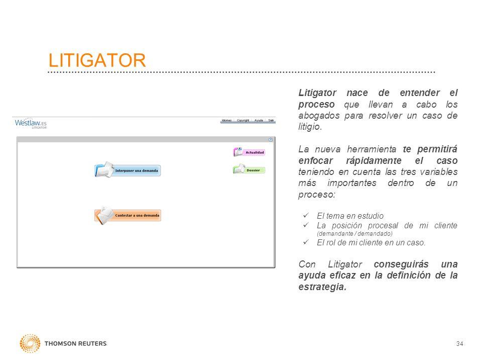 LITIGATOR Litigator nace de entender el proceso que llevan a cabo los abogados para resolver un caso de litigio. La nueva herramienta te permitirá enf