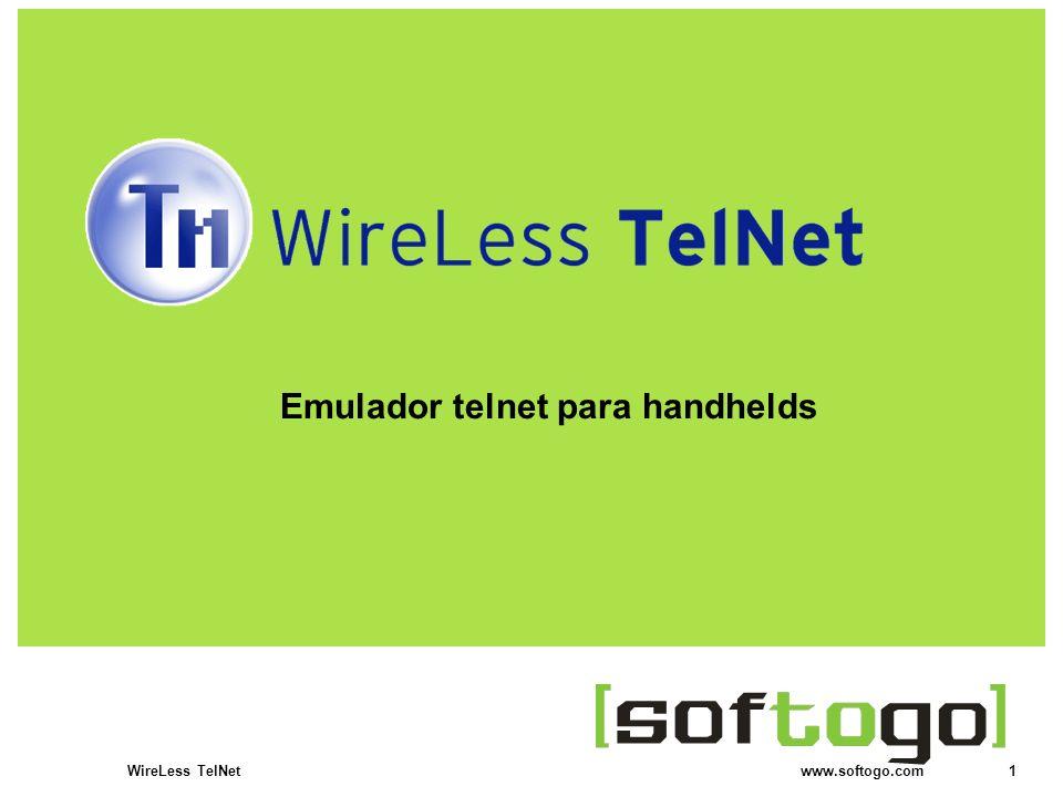1WireLess TelNet www.softogo.com Emulador telnet para handhelds