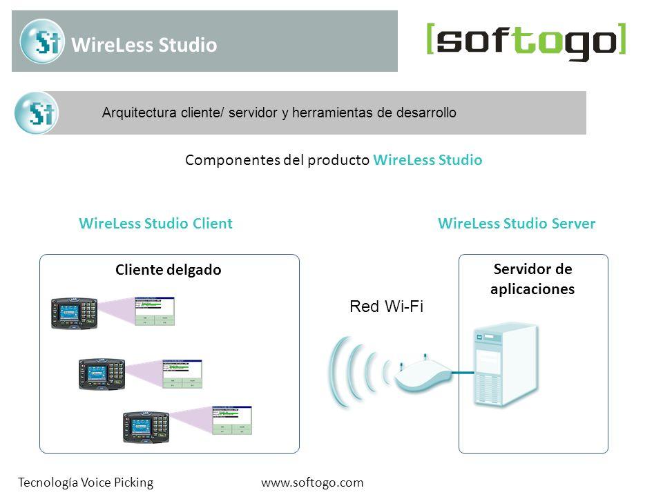 Aplicaciones móviles www.softogo.comTecnología Voice Picking WireLess Studio es una excelente opción para crear un módulo móvil de un WMS o ERP, de manera rápida, flexible y escalable Voice PickingVoice Picking RecepciónRecepción InventarioInventario ConsolidaciónConsolidación Re-ubicaciónRe-ubicación DespachoDespacho Más…Más… Ejemplos de aplicaciones que pueden ser desarrolladas con WireLess Studio