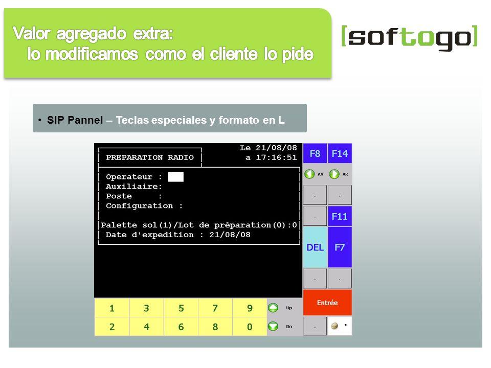 SIP Pannel – Teclas especiales y formato en L