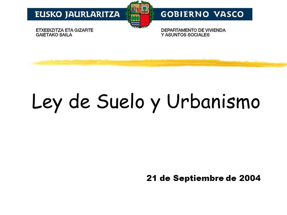 Ley de Suelo y Urbanismo 21 de Septiembre de 2004