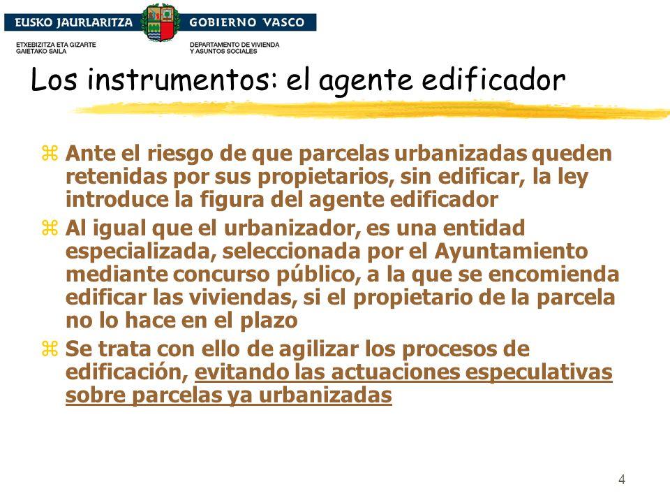 5 Los instrumentos: las reservas para VPO zLa ley consolida e incrementa las reservas de suelo para vivienda protegida, lo que posibilitará superar significativamente la actual cuota del 38% de VPO zLa ley incrementa los porcentajes de VPO hasta el 70% en suelo urbanizable y el 30% en suelo urbano.