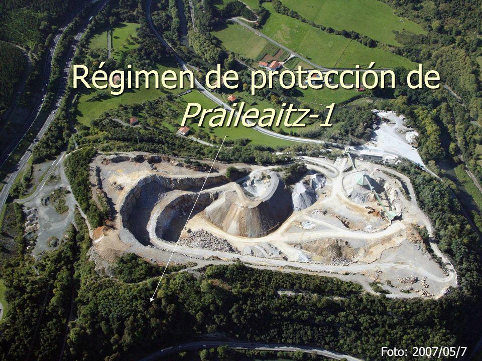 Régimen de protección de Praileaitz-1 (Deba)2 Areas Area 1: Area 1: Area Interior de la Cavidad (AIC).