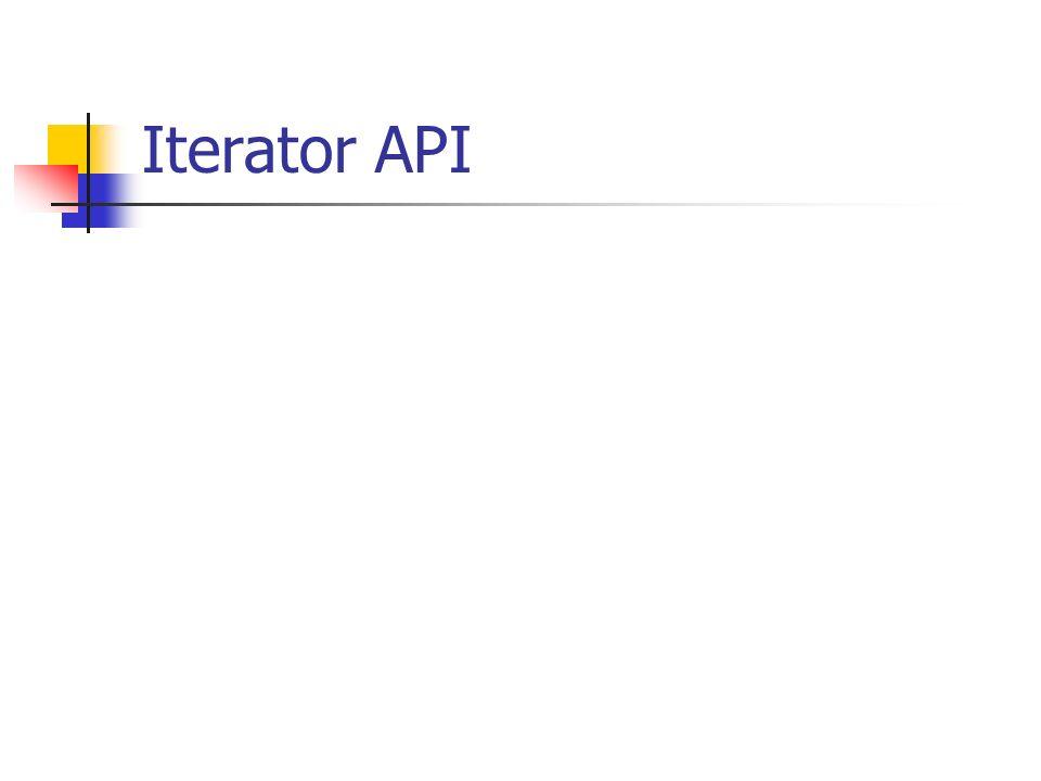 Iterator API