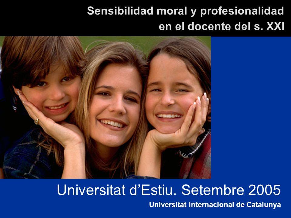 Sensibilidad moral y profesionalidad en el docente del s.
