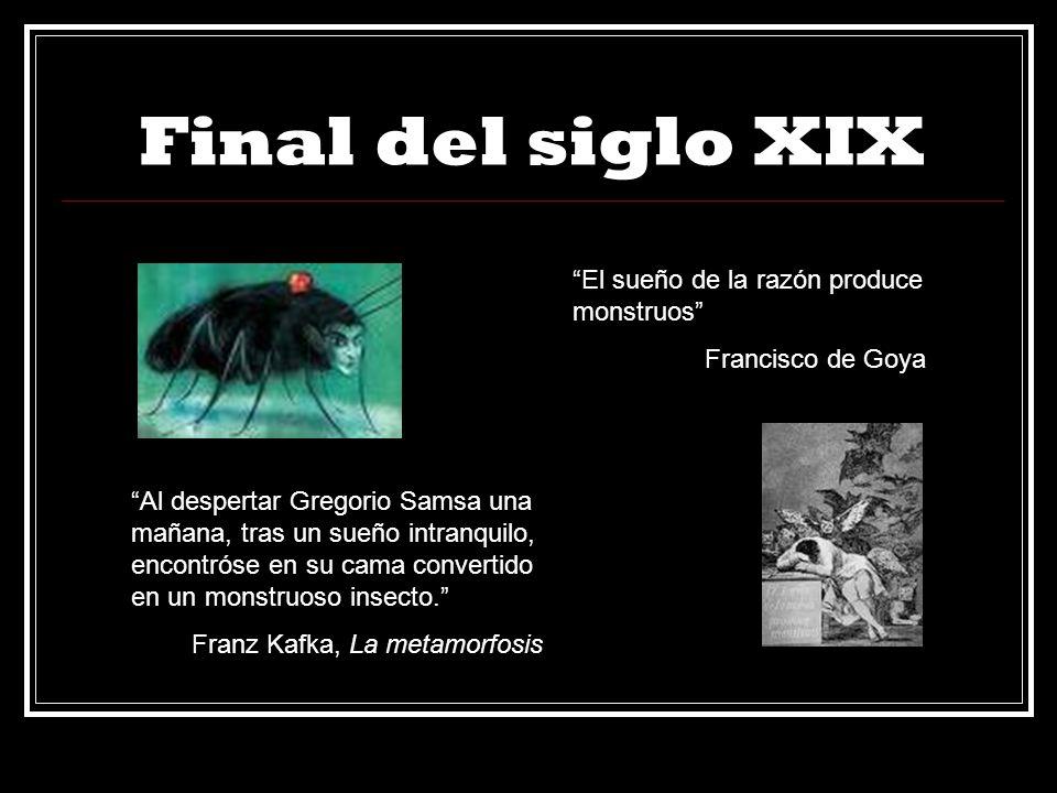 Final del siglo XIX Al despertar Gregorio Samsa una mañana, tras un sueño intranquilo, encontróse en su cama convertido en un monstruoso insecto. Fran