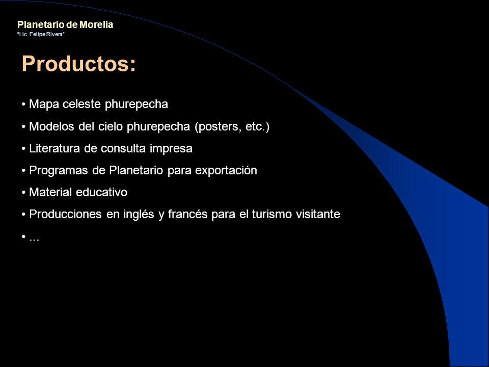 Planetario de Morelia Lic. Felipe Rivera Mapa celeste phurepecha Modelos del cielo phurepecha (posters, etc.) Literatura de consulta impresa Programas