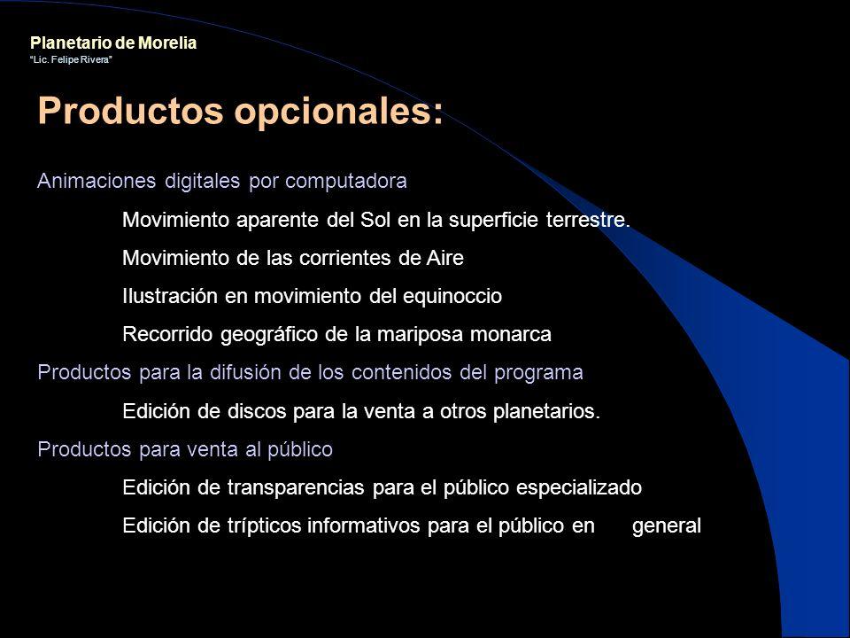 Planetario de Morelia Lic. Felipe Rivera Animaciones digitales por computadora Movimiento aparente del Sol en la superficie terrestre. Movimiento de l