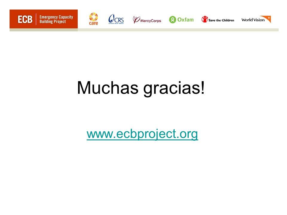 Muchas gracias! www.ecbproject.org
