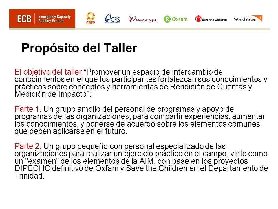 Propósito del Taller El objetivo del taller Promover un espacio de intercambio de conocimientos en el que los participantes fortalezcan sus conocimien