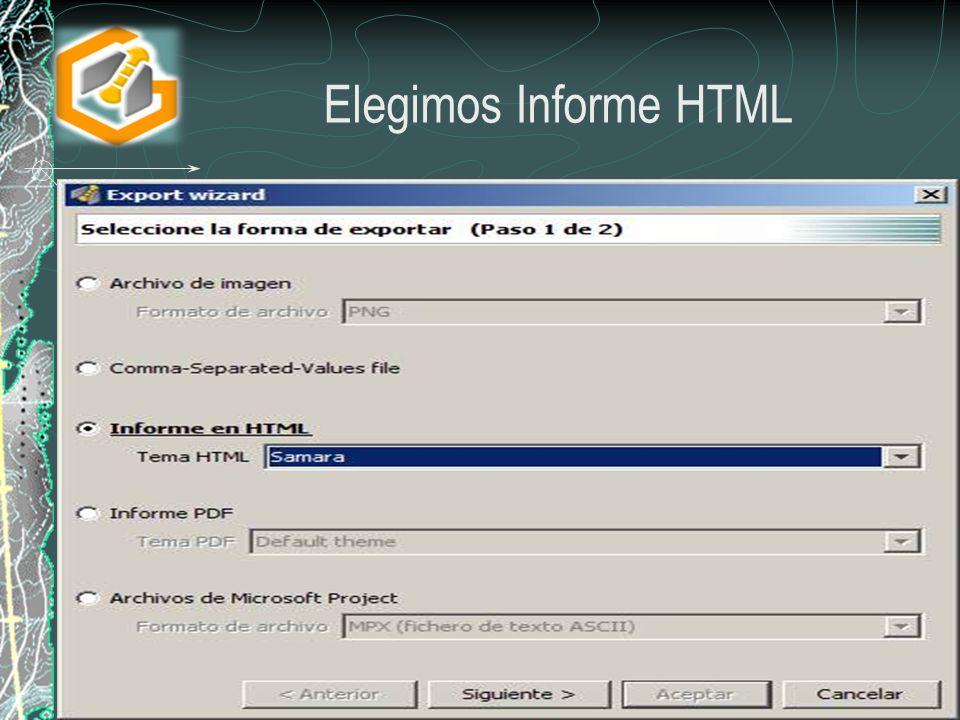 Elegimos Informe HTML