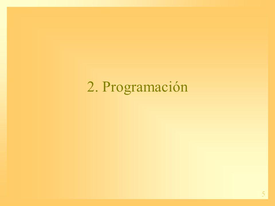 5 2. Programación