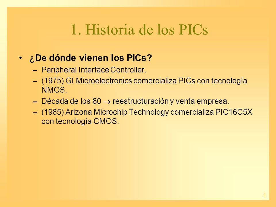 5 2. Características de los PICs