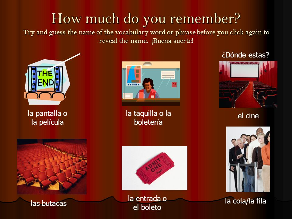 How much do you remember.