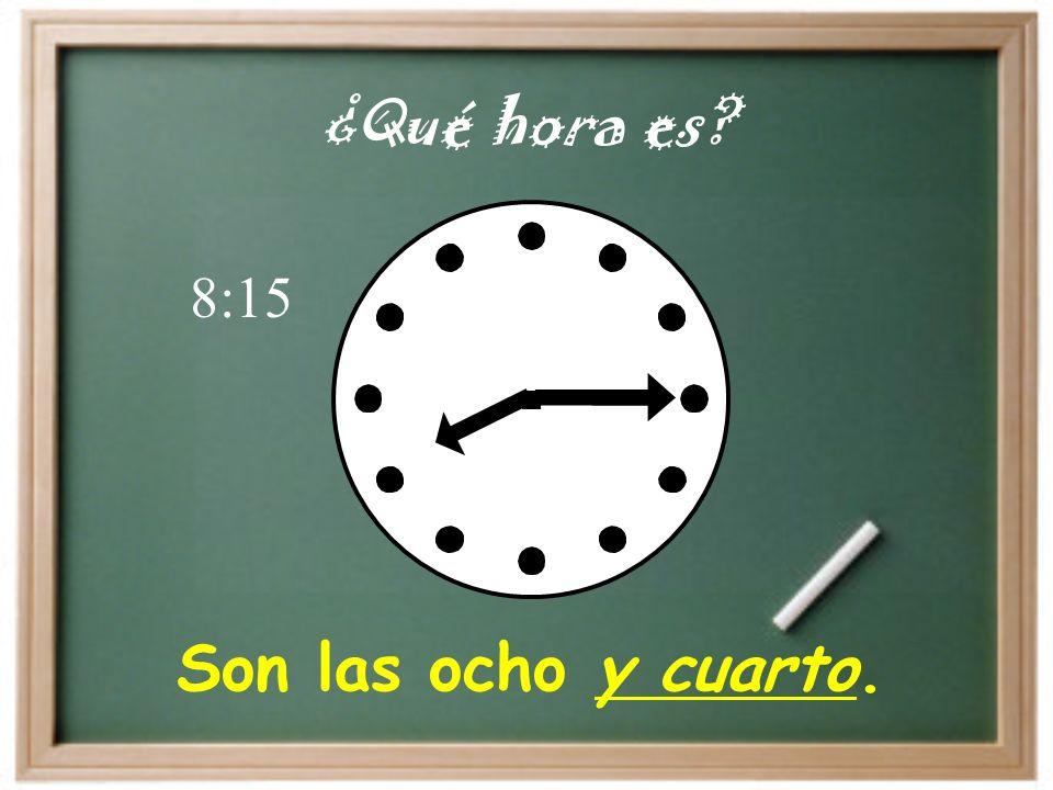 Son las cinco y diez. ¿Qué hora es 5:10