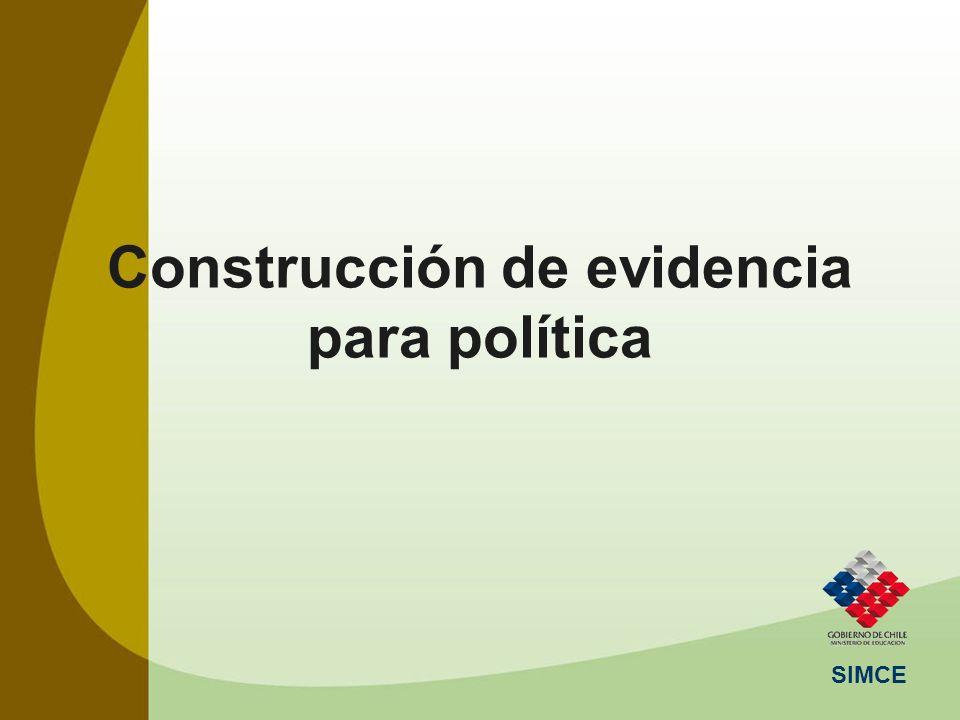 SIMCE Construcción de evidencia para política