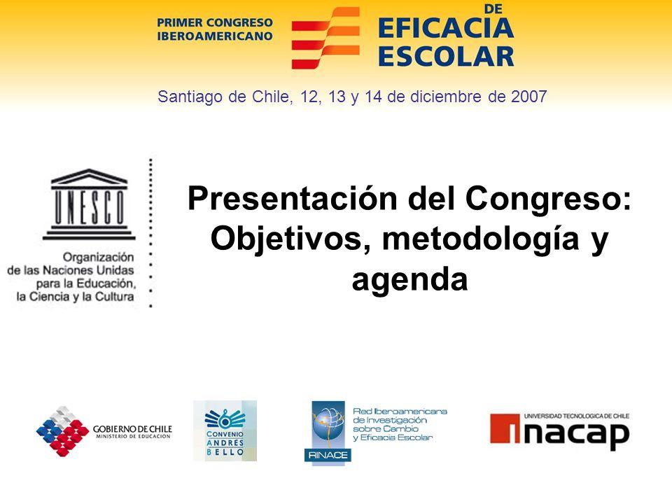 Objetivos Conocer y debatir sobre el estado de la Investigación sobre Eficacia Escolar en América Latina y el Caribe Analizar los resultados de estudios sobre factores asociados desarrollados en el marco de evaluaciones nacionales e internacionales.