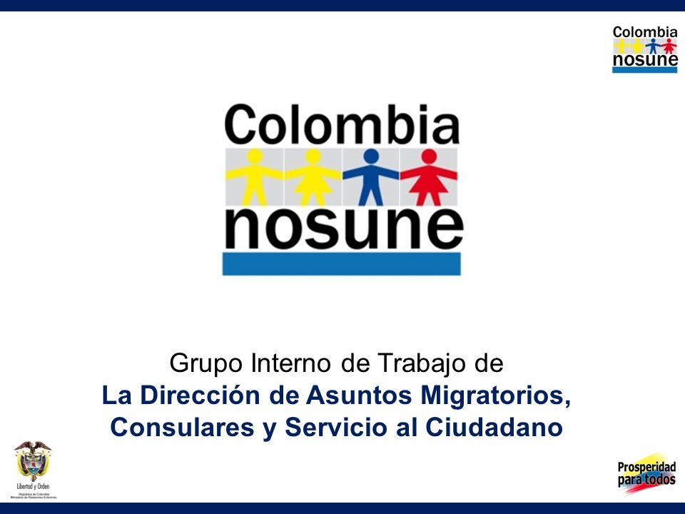 Grupo Interno de Trabajo de La Dirección de Asuntos Migratorios, Consulares y Servicio al Ciudadano