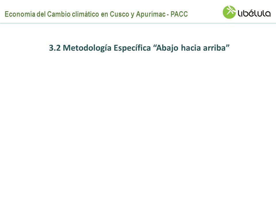 3.2 Metodología Específica Abajo hacia arriba Economía del Cambio climático en Cusco y Apurímac - PACC